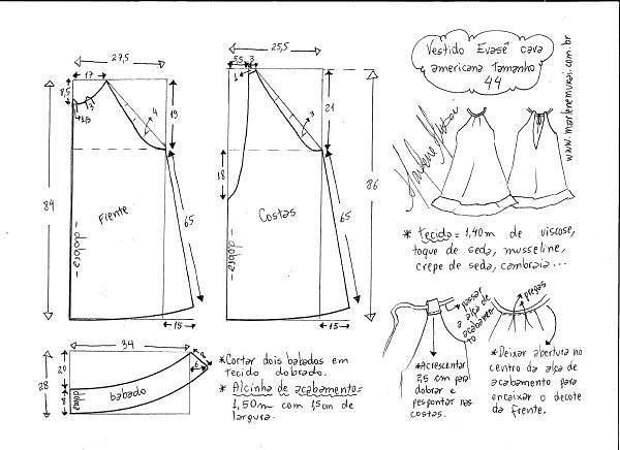 бесплатные выкройки платье сарафан  для  жары