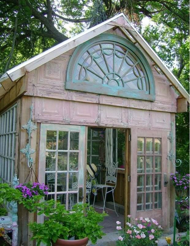 Теплицы и оранжереи, созданные из старых окон. 25 вдохновляющих построек