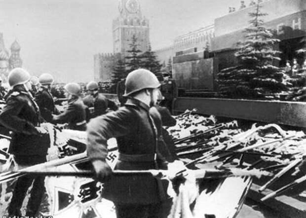 Великая Отечественная война, парад Победы, 24 июня, мавзолей, фашистские знамена|Фото: 900igr.net