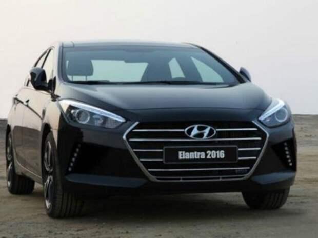 Появилось первое изображение нового Hyundai Elantra