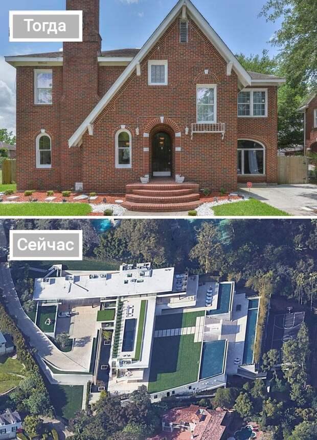 9 фото домов звезд до и после того, как они разбогатели
