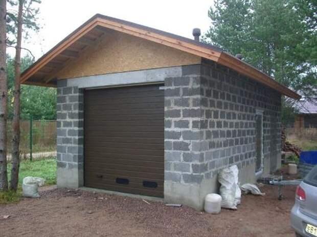 Будуємо гараж з керамзитобетону. Фото