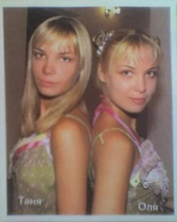 Как менялись очаровательные двойняшки Оля и Таня Арнтгольц с течением времени.