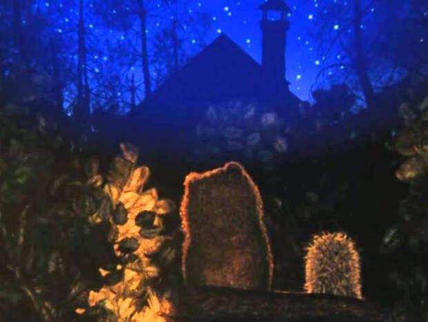 Открытки на ночь, для тех, кто любит ежика и туман