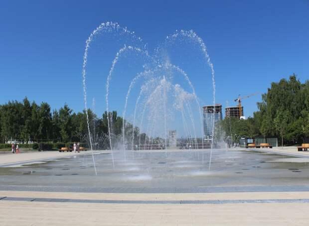 График работы фонтана на Центральной площади Ижевска изменится