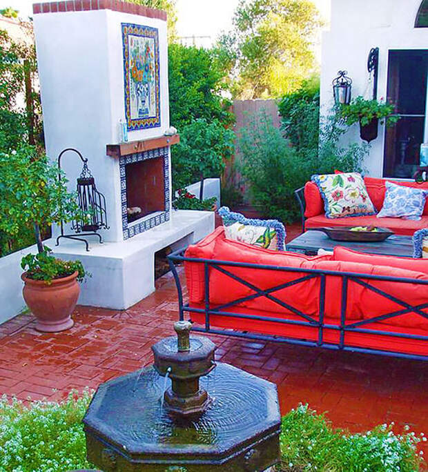 Уютные внутренние дворики в этническом стиле — подборка идей