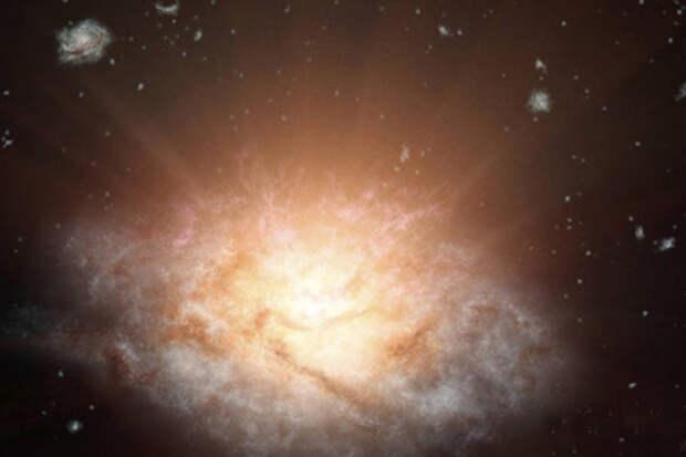 Учёные нашли самую яркую галактику во Вселенной