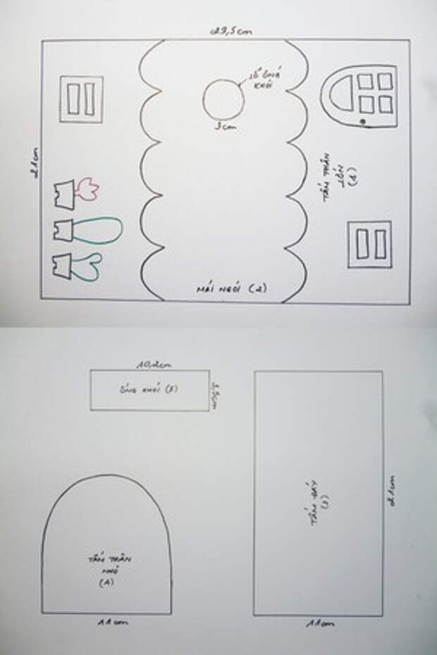 Сказочный вагон из фетра - органайзер для бумажных салфеток (3) (300x450, 54Kb)