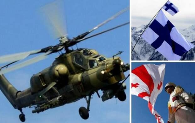 Финляндия и Грузия видели в своем небе российский вертолет