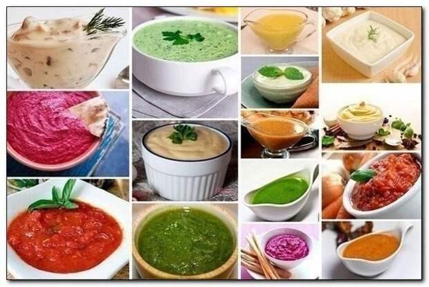 Такие разные и вкусные соусы! (10 вариантов разных соусов)