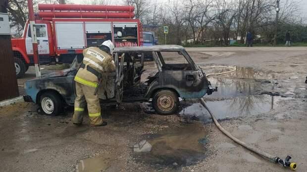 Автопожар в Бахчисарайском районе: сгорела «четверка»