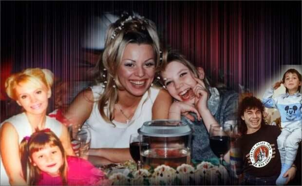 Коллаж автора - Валерия и Анна Шульгина, Ирина Салтыкова и Алиса Салтыкова, Олег Газманов и Родион Газманов