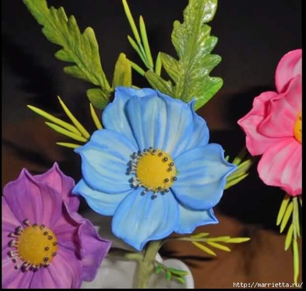 Нежные цветы из сахарной мастики для торта (6) (528x502, 136Kb)