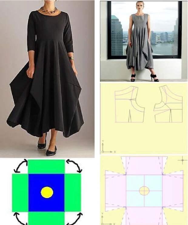 Простая выкройка красивого наряда в стиле «Бохо».