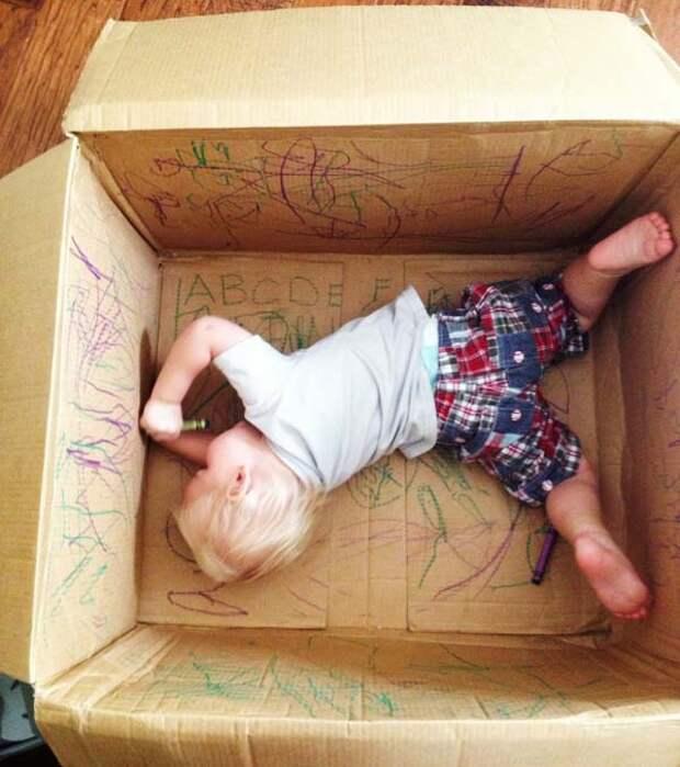 20 способов осчастливить ребенка с помощью картонной коробки