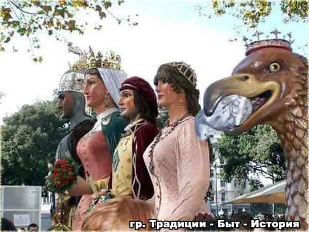 Праздник великанов в Каталонии