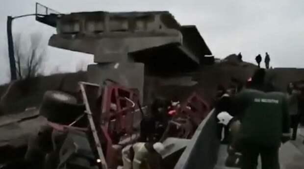 Рухнул мост на выезде из Оренбурга