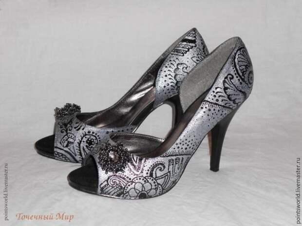 туфли с узором