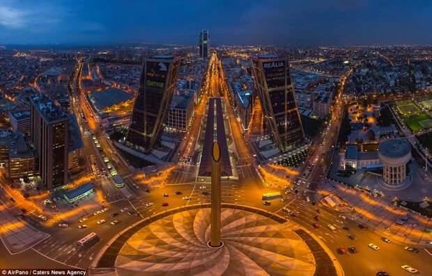 Панорамные ночные фотографии крупных мегаполисов