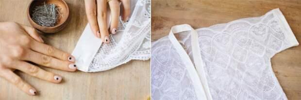 Пеньюар кимоно из кружевной ткани (Diy + выкройка)