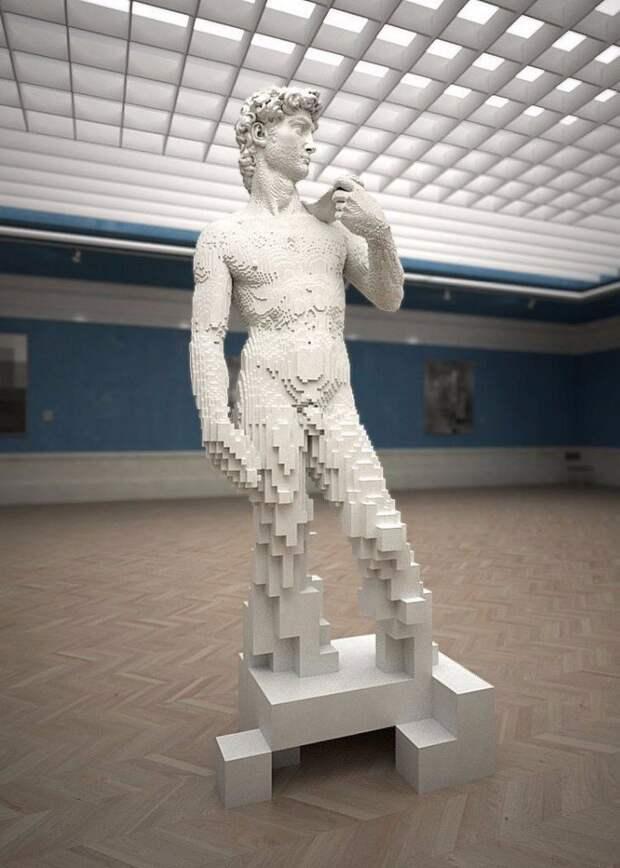 Скульптура Давида из кубиков Лего