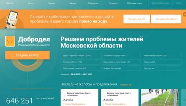 За неделю на «Доброделе» предоставили 35 тыс ответов на обращения жителей области