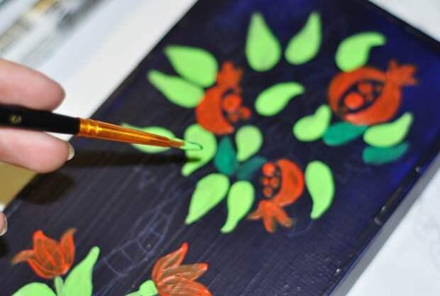 Роспись акриловыми красками