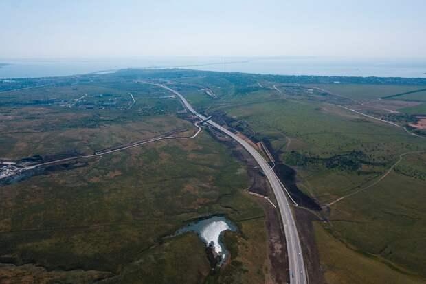 Вид на мост со стороны Крыма. Фото Виталий Тимкив/ специально для «Новой»