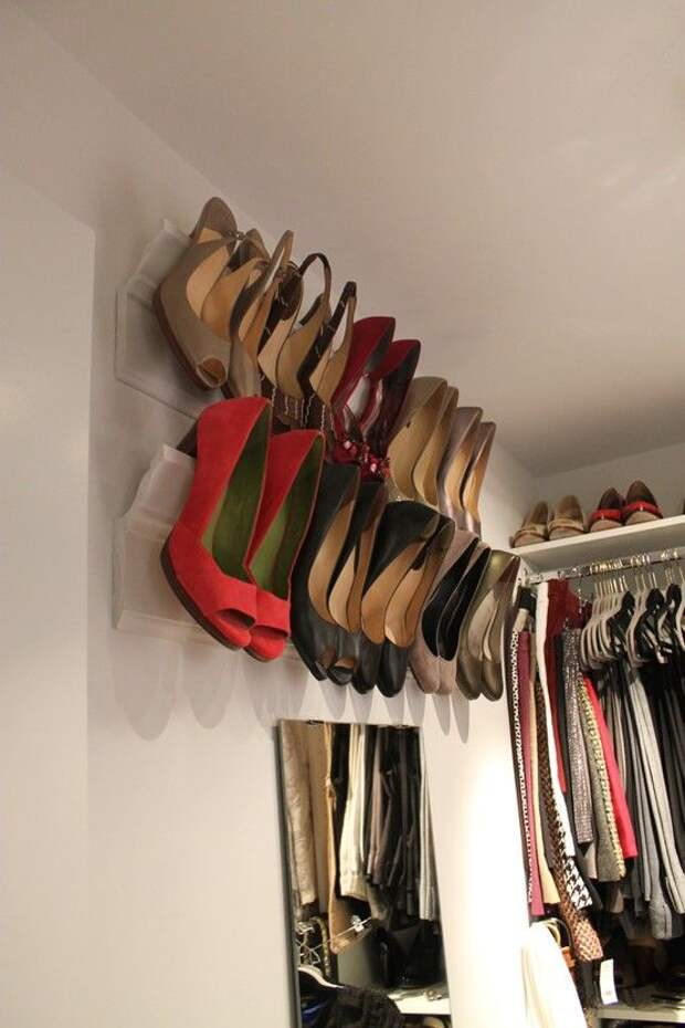 27 классных и продуманных идей для хранения обуви в небольших помещениях