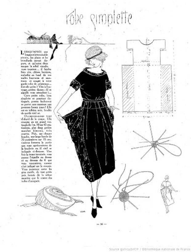 Винтажная выкройка платья 20-х годов