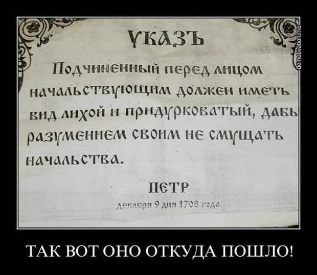 Вона чо, Михалыч! (Из неопубликованных указов царя всея Руси)
