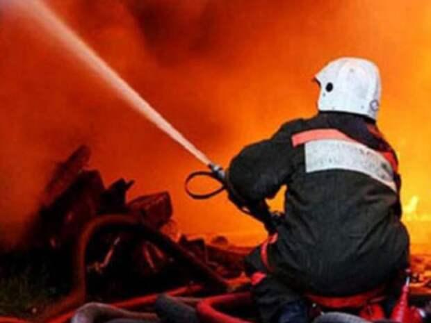 В Ленинградской области горит турецкий завод