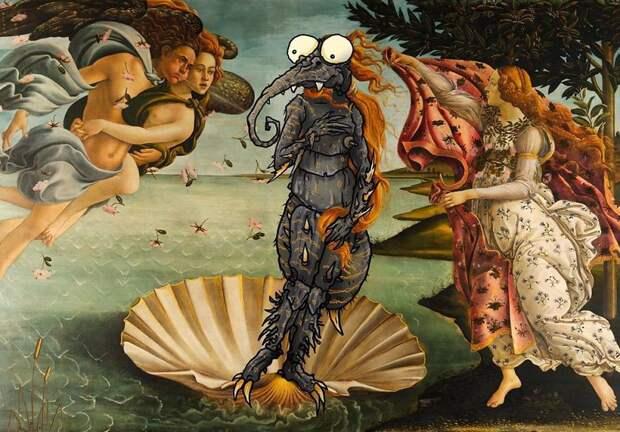 Художник пририсовывает монстров к реальности и не может остановиться