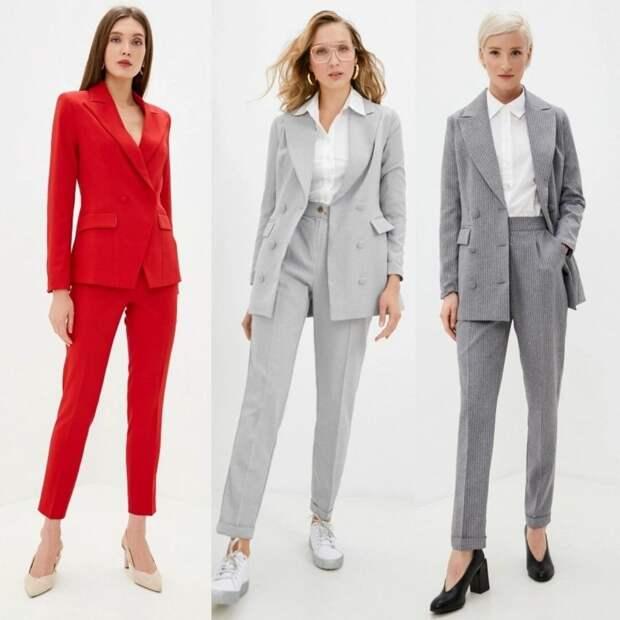Брючный костюм, который носят модные и успешные женщины