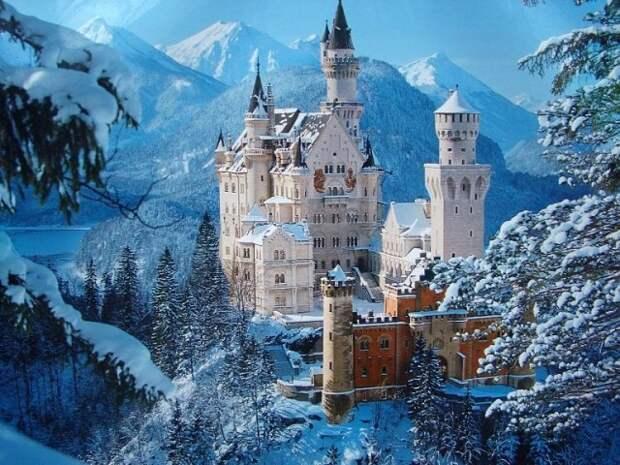 Потрясающей красоты замок Нойшванштайн. Германия.