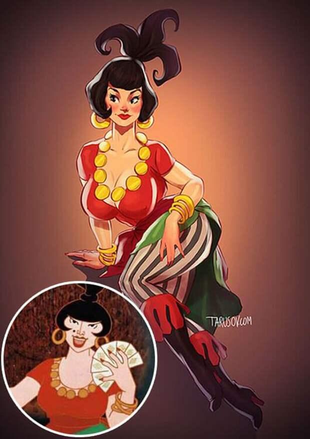 Героиням советских мультфильмов добавили немного сексуальности (6 картинок)