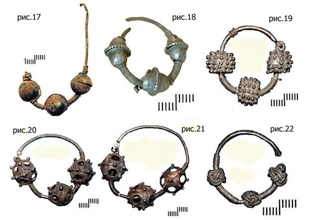 Бусинные височные кольца древних славян.