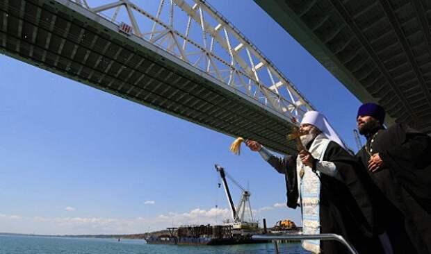 Митрополит Платон освятил Крымский мост
