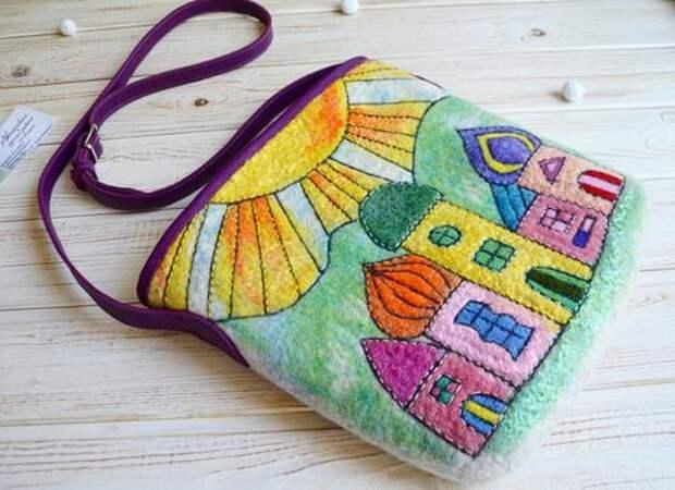Шерстяные сумочки Ольги Чекменевой