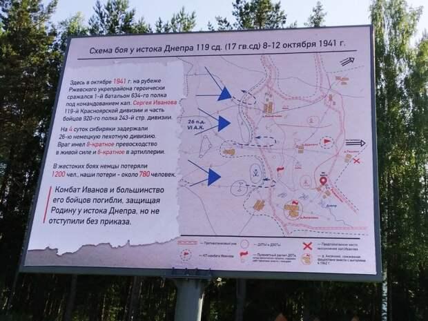 На Смоленщине установили щит о малоизвестном подвиге солдат-сибиряков