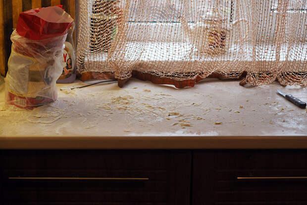 Зачем дети на кухне? ( + фото того кошмара, что они там после себя оставили)