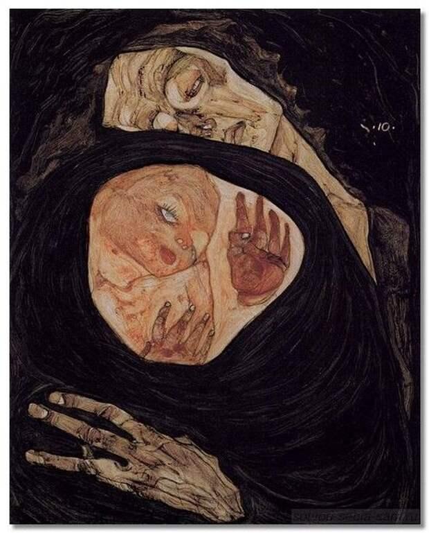 Картинки по запросу эгон шиле смерть и дева картина
