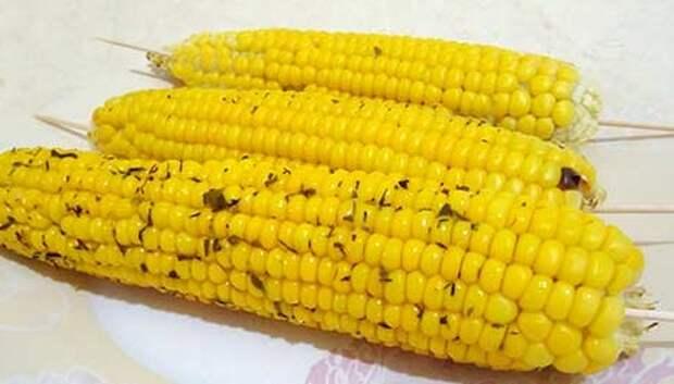 Печёная кукуруза