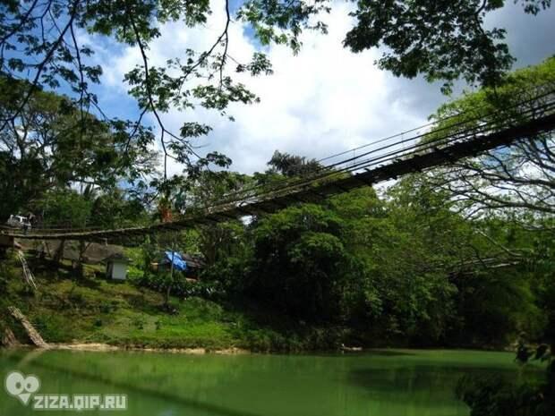 Опасные подвесные мосты (35 фото)
