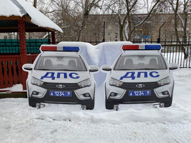Макеты автомобилей ДПС будут устанавливать в Удмуртии в местах концентрации ДТП