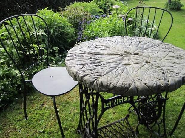 Идея для дачи: садовая мебель и украшения из бетона и цемента