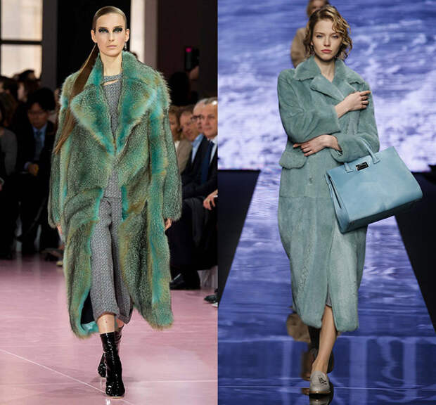 Справа — Christian Dior, слева — Max Mara