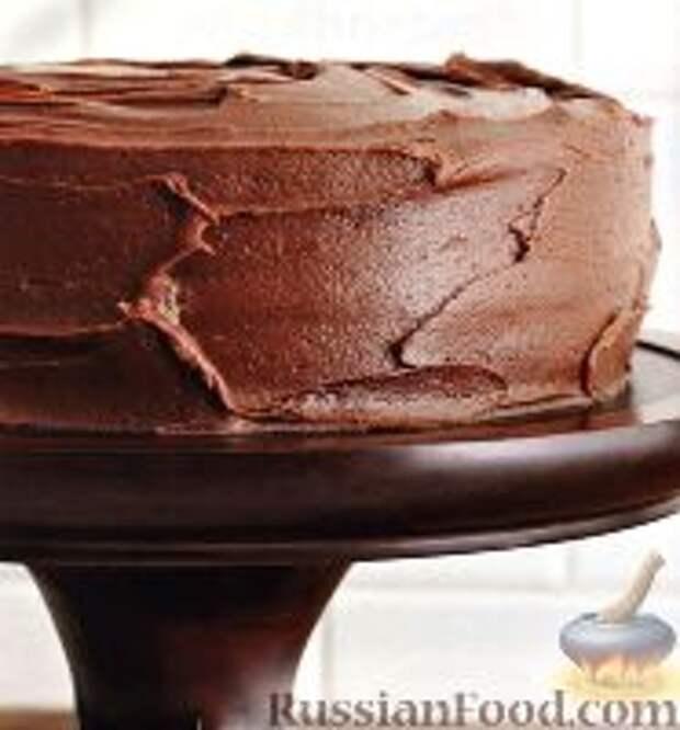 Фото к рецепту: Торт шоколадный на сметане