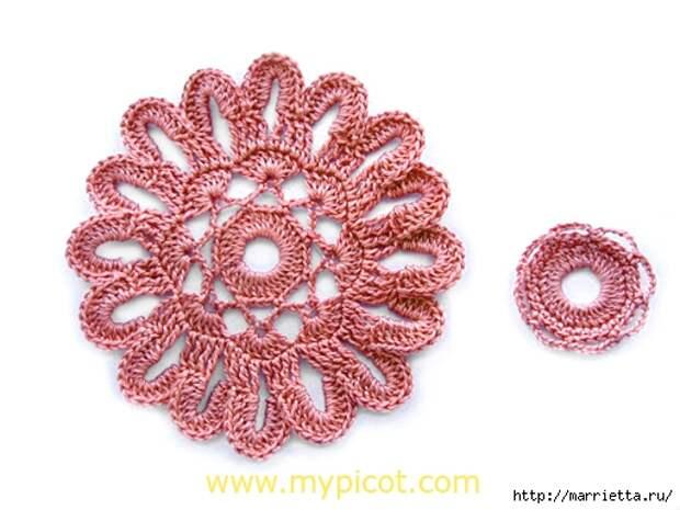 Круглый цветочный мотив для вязания сумки (2) (512x384, 136Kb)