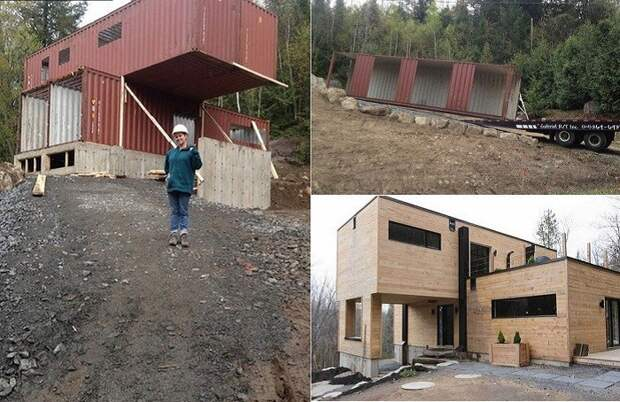 Девушка построила прекрасный дом из обычных контейнеров девушка, дом, контейнер